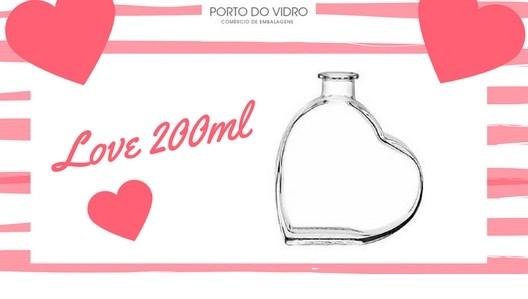 Garrafa em forma de Coração 200ml