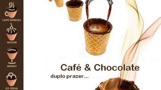 Copos de Baunilha com Chocolate