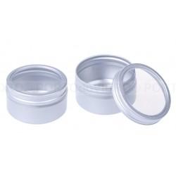Embalagem em Aluminio com Tampa Transparente