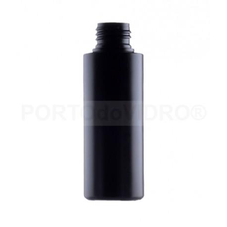 Garrafa Plástica 100ml Preta PP24/410