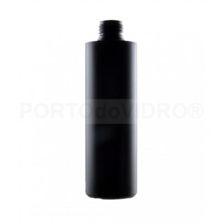 Garrafa Plástica 250ml Preta PP24/410