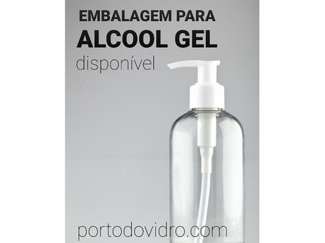 Embalagens Alcool-Gel estão disponíveis